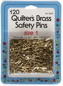Collins Quilt Brass Safety Pins 120ct Size 1