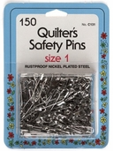 Collins Quilter's Safety Pins 150ct Size 1