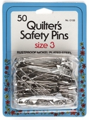 Collins Quilter's Safety Pins 50ct Size 3