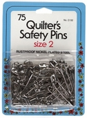 Collins Quilter's Safety Pins 75ct Size 2