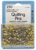 Collins Quilting Pins 250ct Extra Long