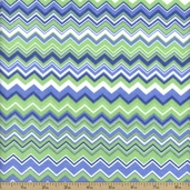 Comfy Flannel Chevron Cotton Fabric - Green