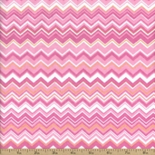 Comfy Flannel Chevron Cotton Fabric - Pink