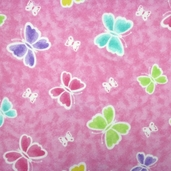 Comfy Flannel Fabric - Butterfly Pink