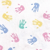 Comfy Flannel Fabric Hands - White