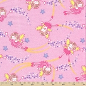 Comfy Flannel - Fairies Pink