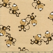 Comfy Flannel Monkey Toss - Tan 9442-33X TAN