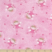 Comfy Flannel Prints - Fairies Pink