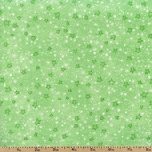 Comfy Prints Stars Flannel - Green 9831-66 GREEN