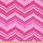 Comfy Prints Zig Zag Flannel Fabric - Pink