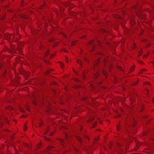 Complements Climbing Vine Cotton Fabric - Bright Red