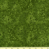 Complements Climbing Vine Cotton Fabric - Hunter