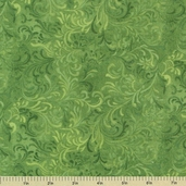 Complements Embellishment Cotton Fabric - Medium Green