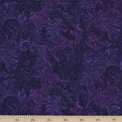 Complements Embellishment Cotton Fabric - Purple