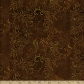 Complements Embellishments Cotton Fabric - Dark Brown Q.1013-51000-222