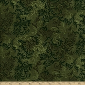 Complements Embellishments Cotton Fabric - Forest Green Q.1013-51000-779