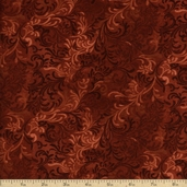 Complements Embellishments Cotton Fabric - Rust Q.1013-51000-323