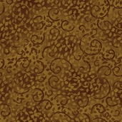Complements Leafy Scroll Cotton Fabric - Brown