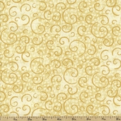 Complements Leafy Scroll Cotton Fabric - Gold 1402-26295-112