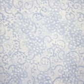 Complements Leafy Scroll Cotton Fabric - Light Blue