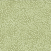 Complements Leafy Scroll Cotton Fabric - Light Green