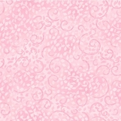 Complements Leafy Scroll Cotton Fabric -  Light Pink
