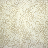 Complements Leafy Scroll Cotton Fabric - Light Tan