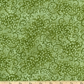 Complements Leafy Scroll Cotton Fabric - Moss Green