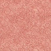 Complements Leafy Scroll Cotton Fabric - New Pink