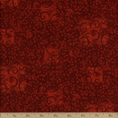 Complements Leafy Scroll Cotton Fabric - Red Q.1402-26295-333