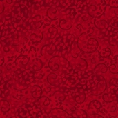 Complements Leafy Scroll Cotton Fabric - Ruby Slippers Red