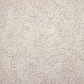 Complements Leafy Scroll Cotton Fabric - Whipped Cream