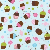 Confections Cotton Fabric - Aqua