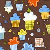 Confections Cotton Fabric - Blueberry