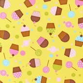 Confections Cotton Fabric - Buttercup