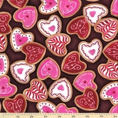 Confections Cotton Fabric - Chocolate
