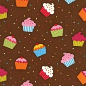 Confections Cotton Fabric - Cocoa