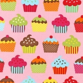 Confections Cotton Fabric - Pink