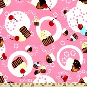 Confections Cotton Fabric - Pink ESK-8102-10