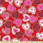 Confections Cotton Fabric - Red