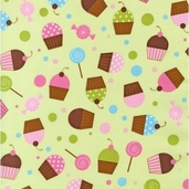 Confections Cotton Fabric - Sage