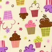 Confections Cotton Fabric - Vanilla