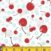 Confections Cotton Fabric - White