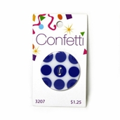 Confetti Button - Blue Circles