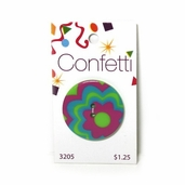 Confetti Button - Citrus Flowers