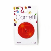 Confetti Button - Orange Stars