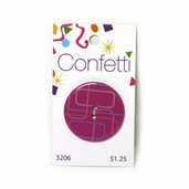 Confetti Button - Pink and Purple Rectangles