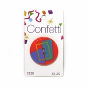 Confetti Button - Squares and Rectangles
