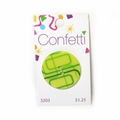 Confetti Buttons - Green Rectangles