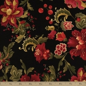 Contessa Cotton Fabric - Black C9727